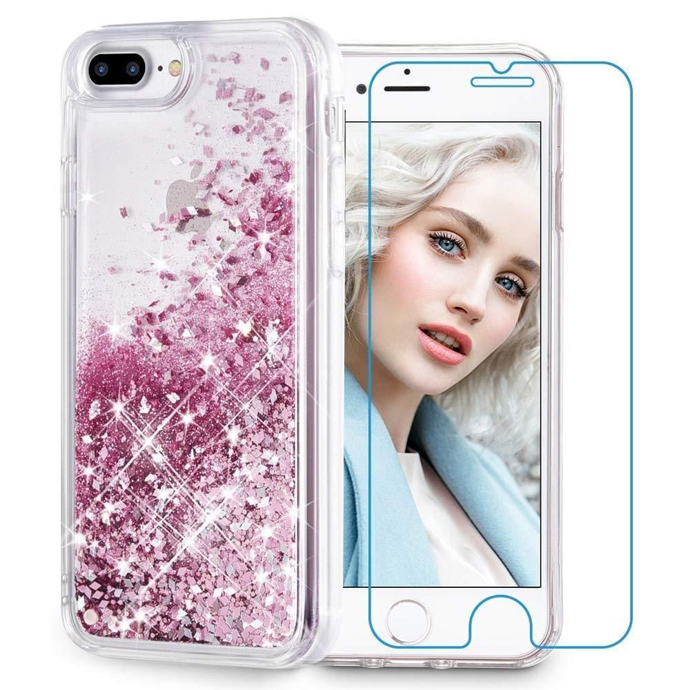 Waterfall Iphone Case -  WaterfallIphoneCase  WaterfallphoneCase   liquidiphonecase Maxdara iPhone 8 Plus Case 7 Glitter Liquid Women Case   Tempered Glass. 81bdf59427