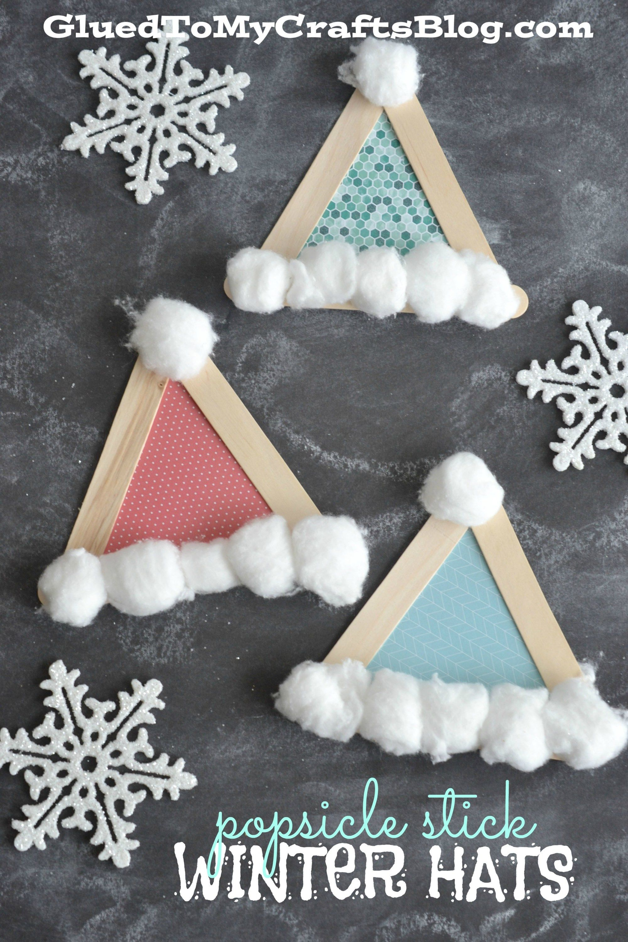 Popsicle Stick Santa Hats  Kid Craft  Glued To
