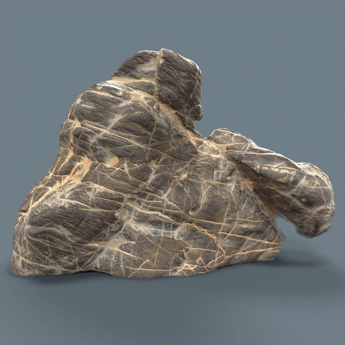 Suiseki Decoration Grey Marble 3D model (con imágenes
