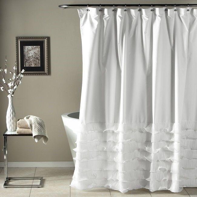 Shabby Chic Shower Curtain Clawfoot Tub Bathroom Decor Romantic Bath Curtains