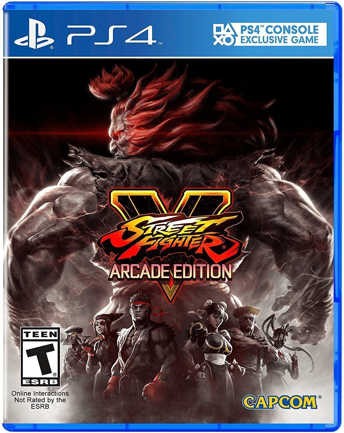 Street Fighter V Arcade Edition Sony Playstation 4 2018 Ps4 Skyrim Special Video Game New