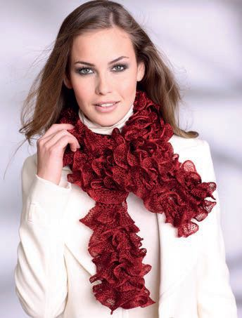 Free knitting pattern - Frilly scarf in SMC Sparkling    www - free p&l template