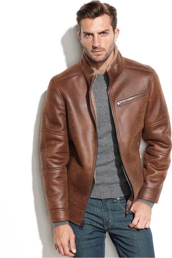 Buffalo David Bitton Faux-Shearling Moto Jacket