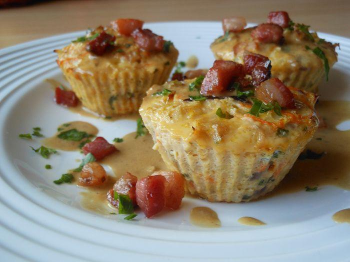 Szalonnás, zöldséges frittata muffin