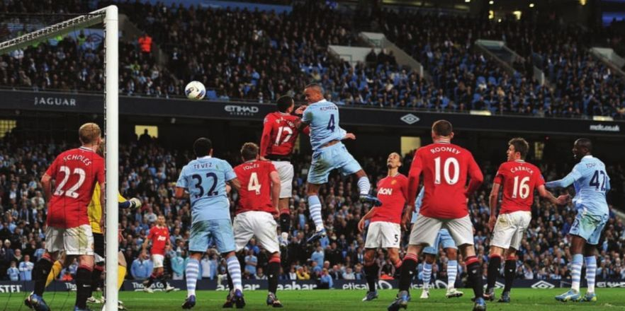 man utd home 2011 to12 kompany goal | Manchester football ...