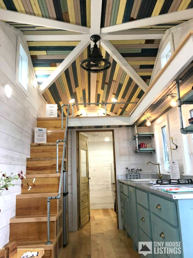 Beautiful Farmhouse Style Tiny Home For Sale! This 8x24
