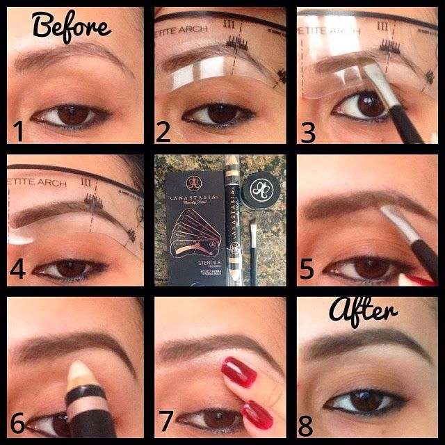 3 Minute Brows With Anastasia Beverly Hills Stencils Loose Powder