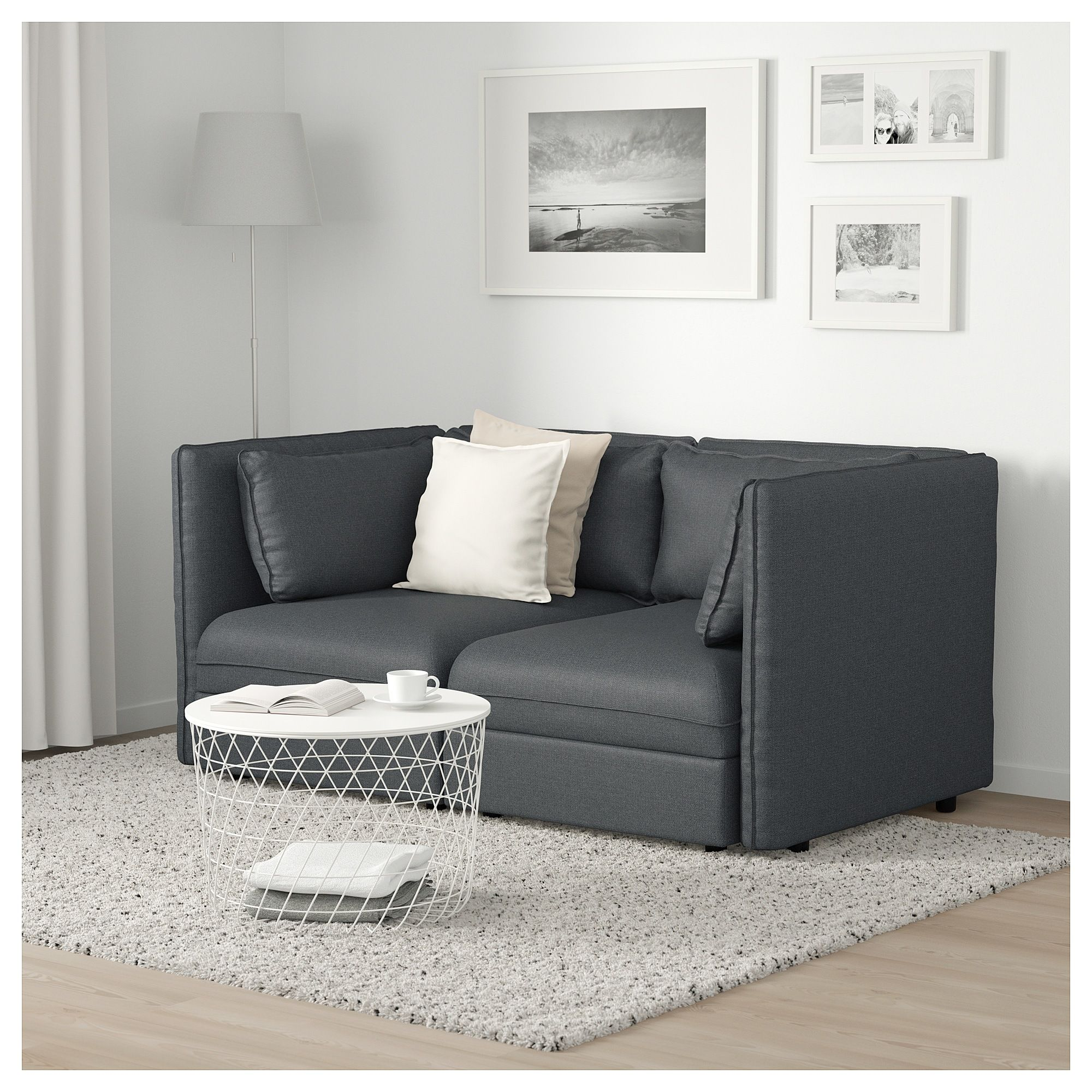 IKEA VALLENTUNA Modular loveseat Hillared dark gray