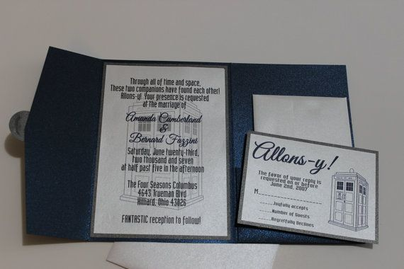 wedding invitations time lords inc pinterest dr who doctor who