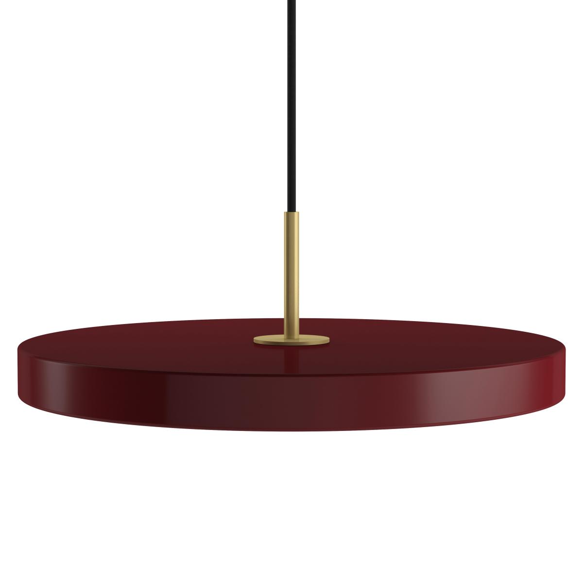Boule De Plume A Suspendre suspension asteria ruby (vinrouge)   luminaire suspendu