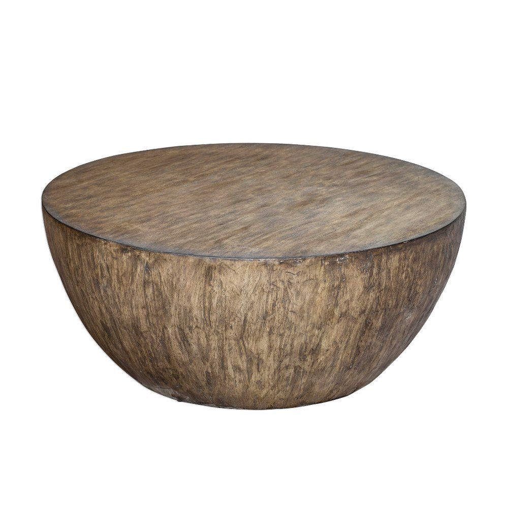 Jacob Wooden Drum Round Coffee Table 42 Coffee Table Wood Drum