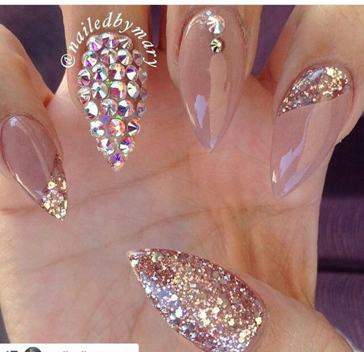 Mauve and Rose Gold | Nailed It! | Pinterest | Manicuras, Probar y Coser