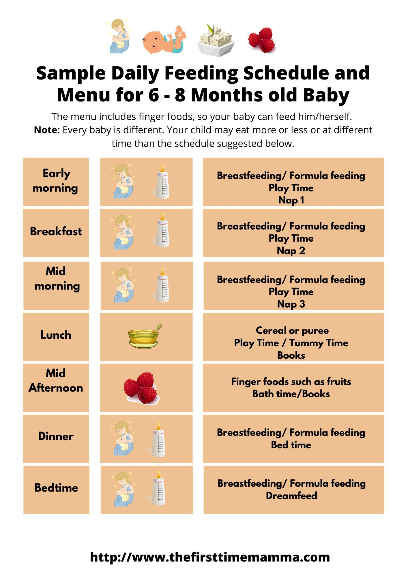 8 Month Feeding Schedule : month, feeding, schedule, Sample, Daily, Feeding, Schedule, Months, Tips,, Schedule,, Month