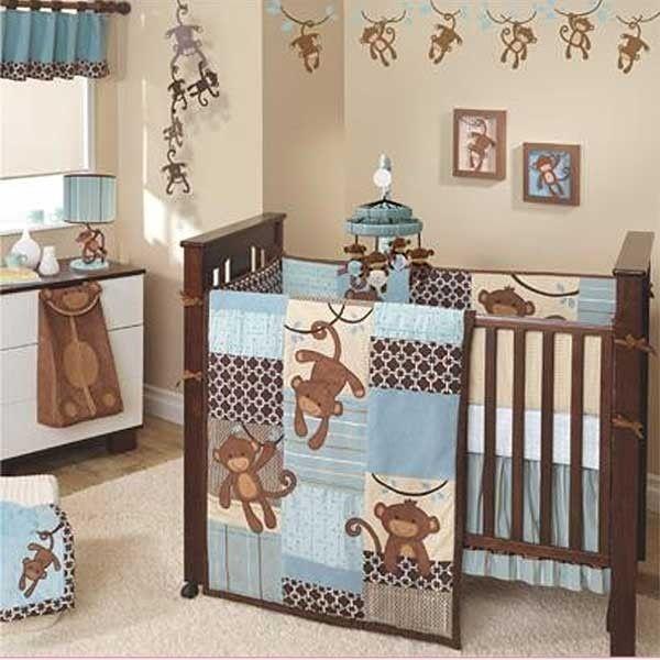 Monkey Theme Nursery For Boys Baby Crib Bedding Sets