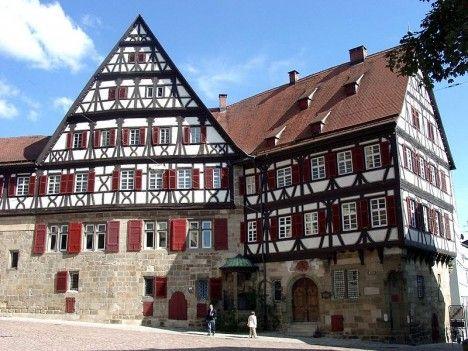 Traditional German halftimbered houses of Esslingen