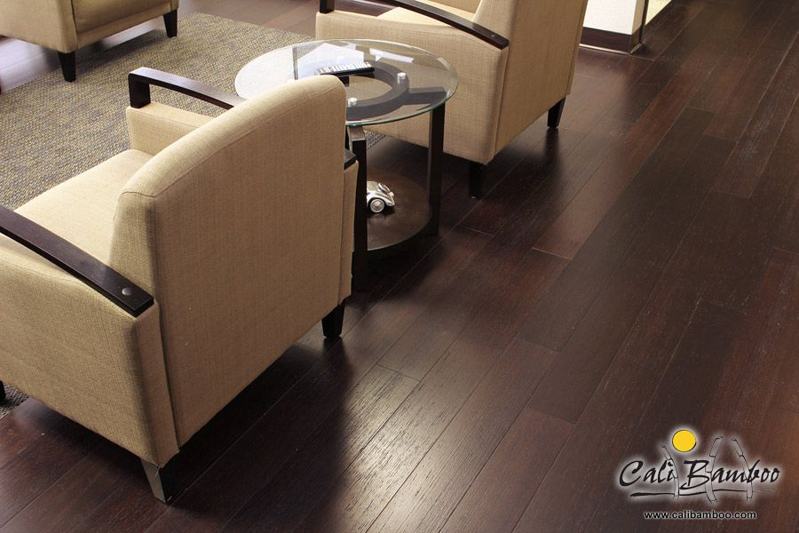 Hand Sed Bamboo Flooring In Vintage Java Click Lock