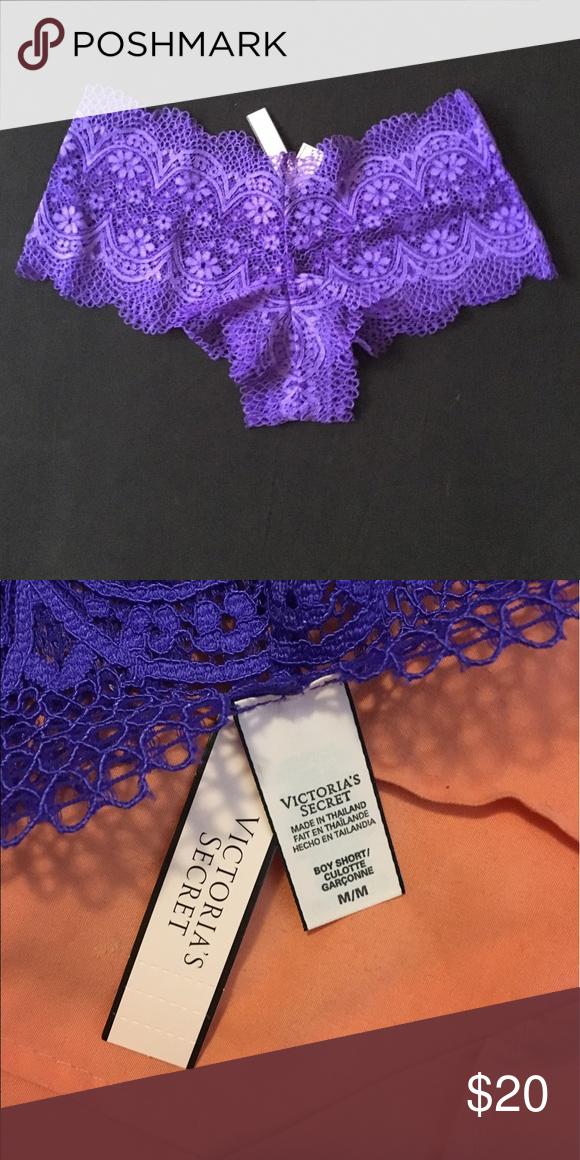 bba31421daf SALE VS Crochet Lace Sexy Shortie Victoria secret underwear. Cute lace  design. Purple color. Victoria s Secret Intimates   Sleepwear Panties