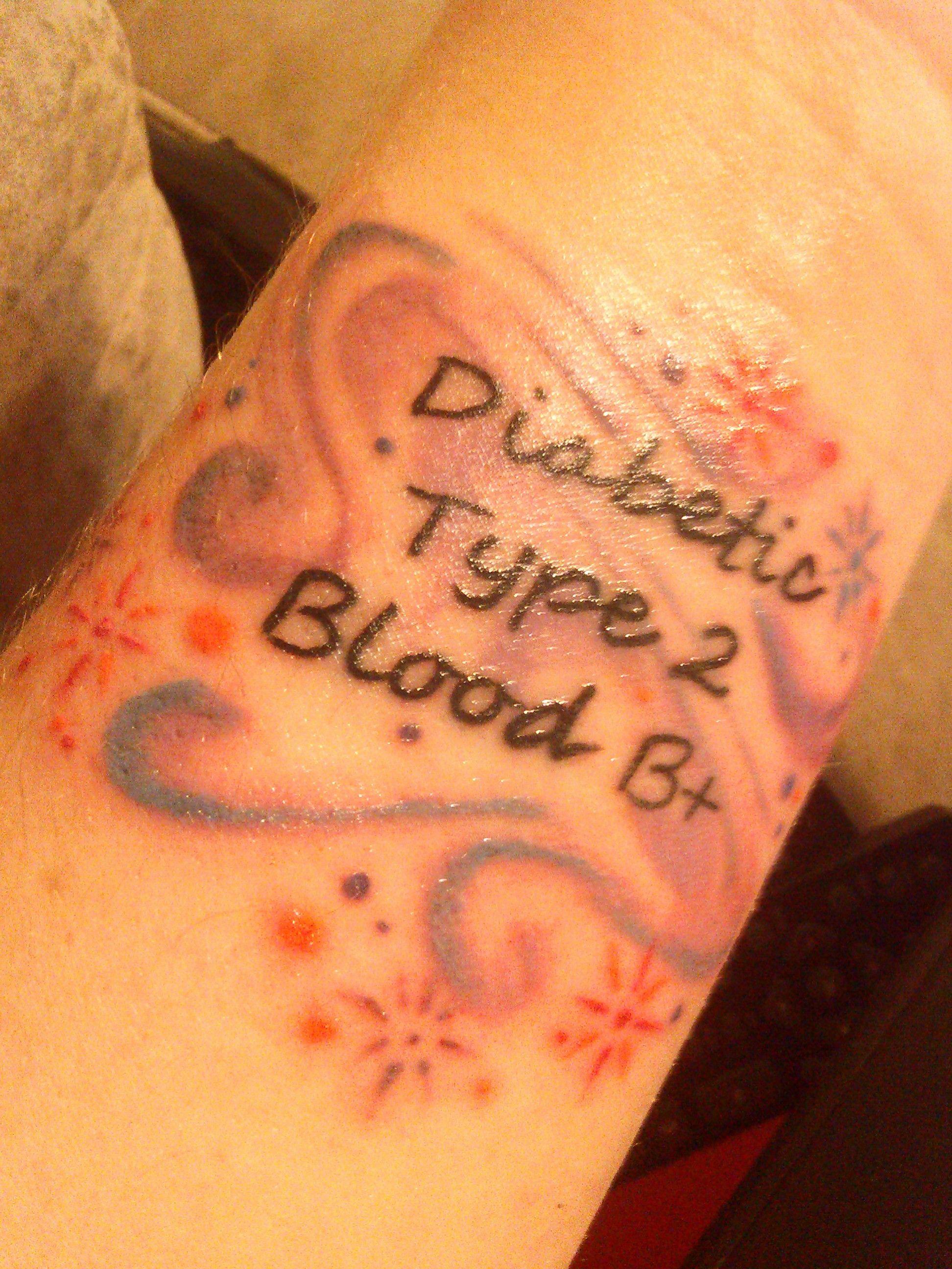 my new medic alert tattoo my style pinterest tattoo medical alert tattoo and diabetes tattoo. Black Bedroom Furniture Sets. Home Design Ideas