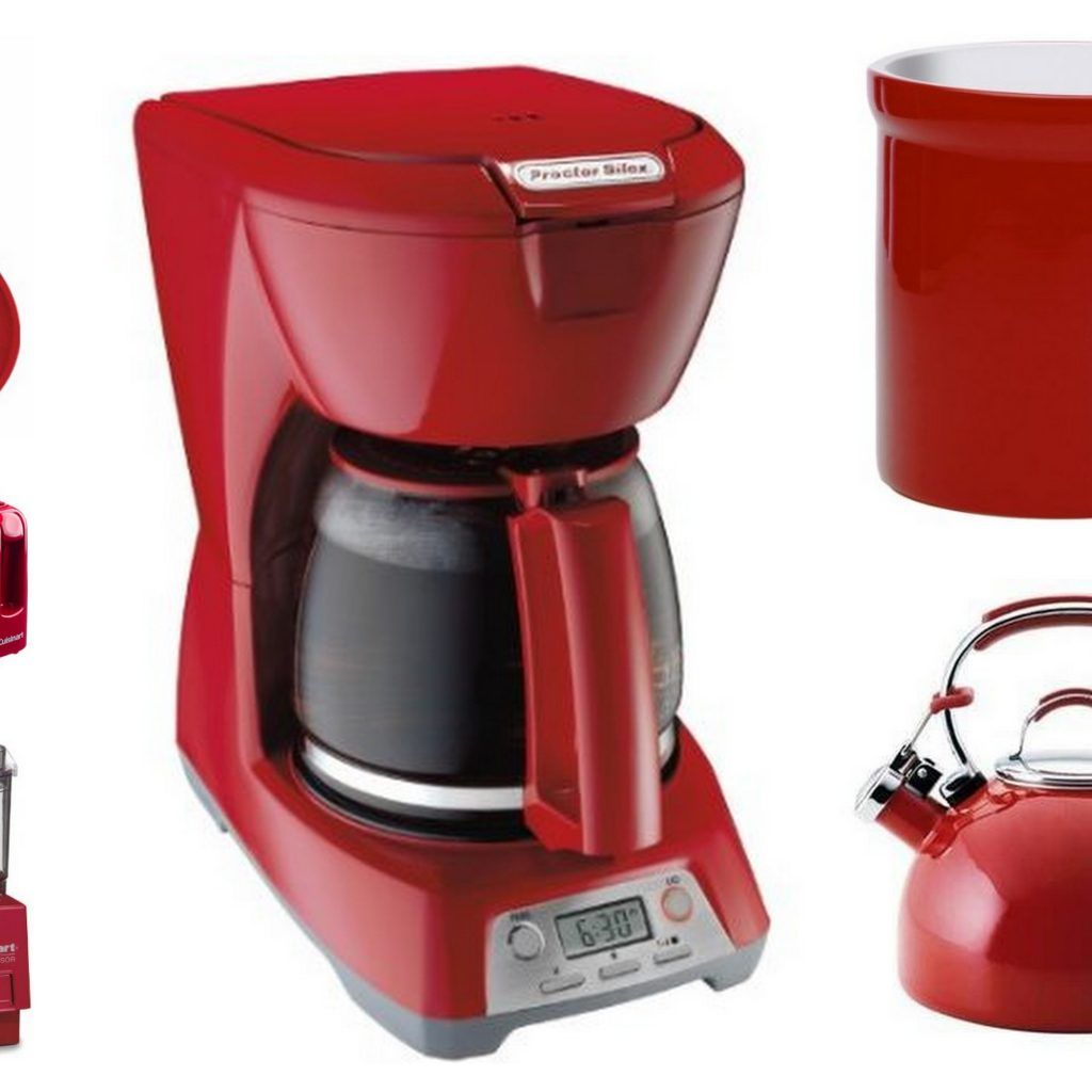 Red Kitchen Appliances Set Http Avhts Com Pinterest Red