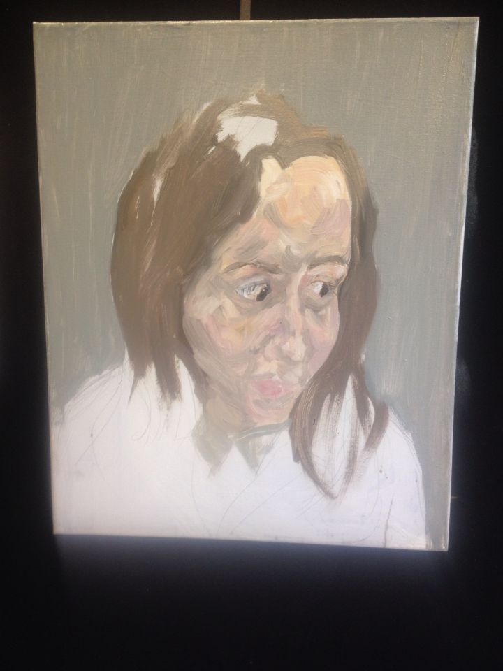 Portrait In Oil Representing Insanity In A Physical Form Through