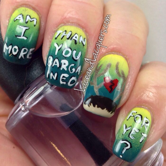 Fall out boy nail art Lace & Lacquers | My Nails | Pinterest | Lace ...