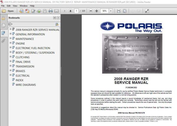 2008 Polaris Ranger Rzr Atv Service Manual Diy Factory Service Repair Maintenance Manual In 2020 Repair And Maintenance Rzr Polaris Ranger
