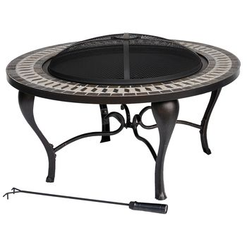 Allen Roth 35 Black Steel Wood Burning Fire Pit L Ft521pst 12 In Gift Ideas From Lowes Outdoor Fire Pit Kits Fire Pit Lowes Wood Burning Fire Pit