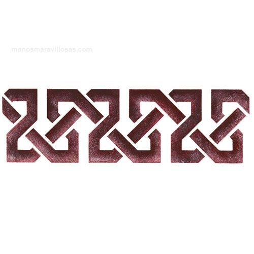 Cenefas para estarcir buscar con google patrones manualidades pinterest estarcido - Dibujos de cenefas ...