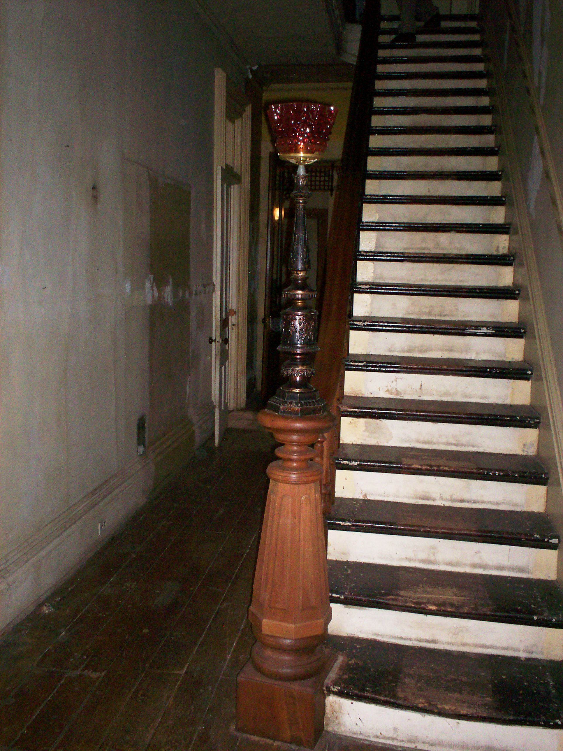 Staircase With Newel Post Lamp Victorian Homes Ikea Picture Ledge Easy Dinner Recipes