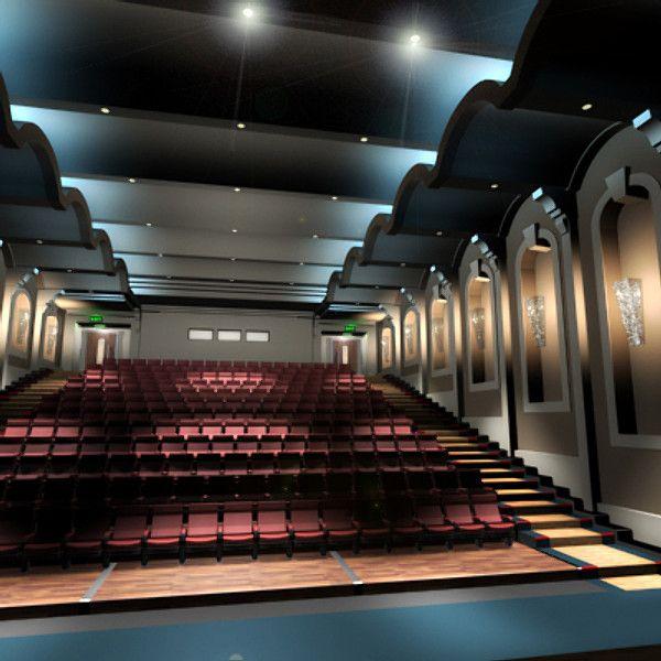 3d Model Movie Theatre Tribevr Movie Theater Model Cinema