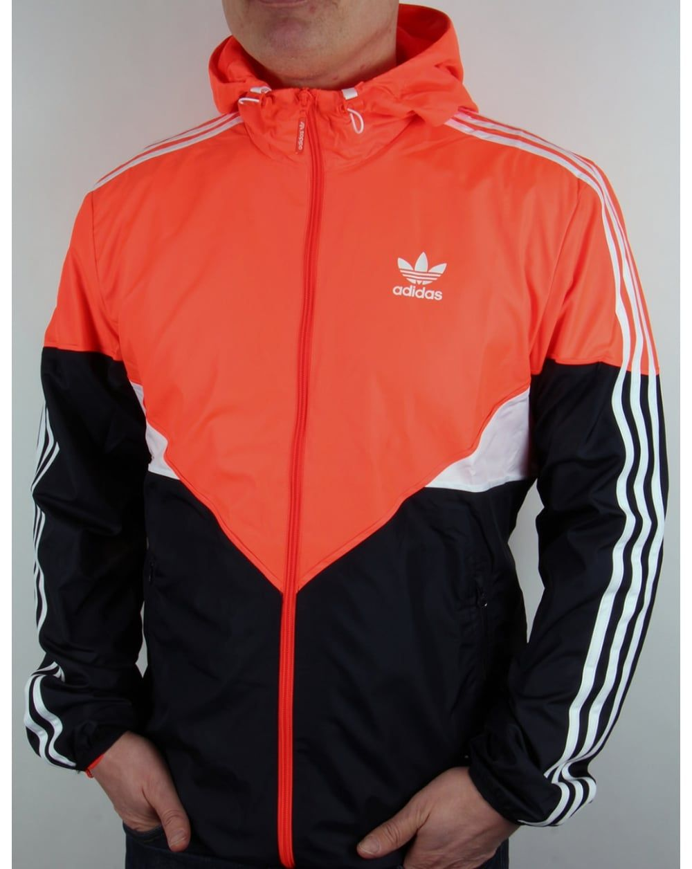 Adidas Originals Colorado Windbreaker Solar Red/navy/white | tops | Pinterest | Best Windbreaker ...