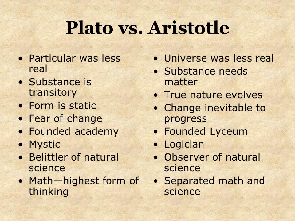 similarities between plato and aristotle