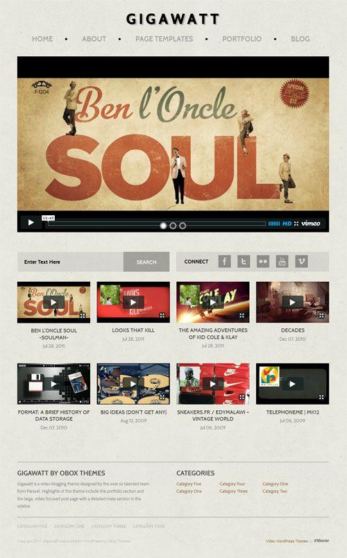 Gigawatt WordPress Theme Review - Obox Design | Best WordPress ...