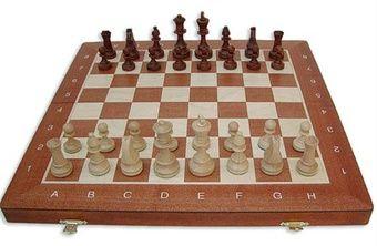 Sjakksett Staunton nr 4, sammenleggbart - Sjakkbutikken