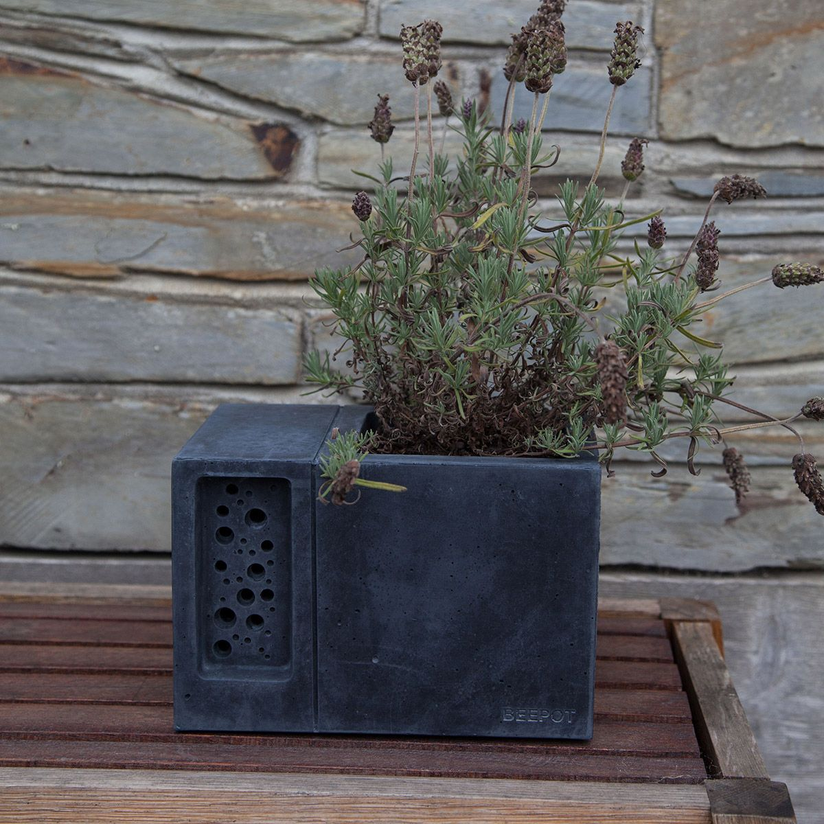 The Beepot Bee Hotel Is A Beautiful Concrete Planter Inspired By The Award  Winning Bee Brick, Only This Time Weu0026 Added A Diner On The Bees Doorstep!