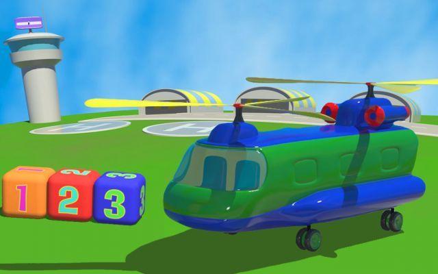 Cartoni animati con aeroplani l elicottero cargo