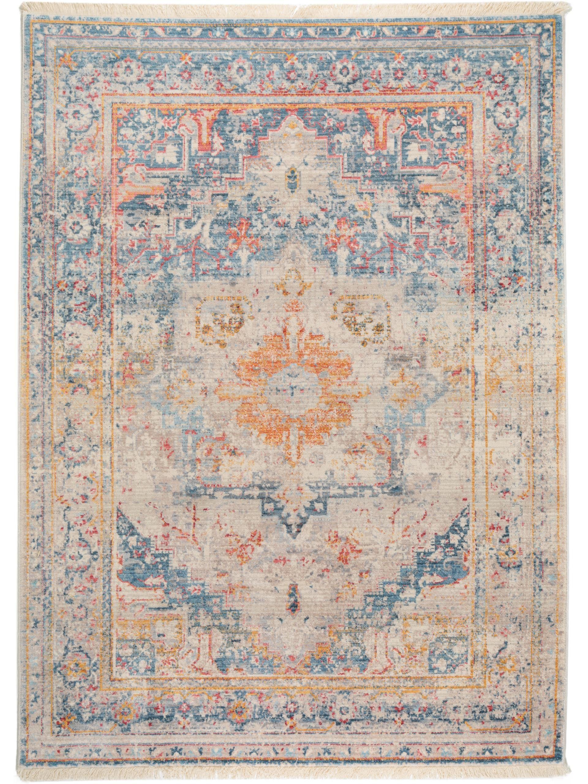 Der wunderschöne Vintage Teppich Safira Blau lässt sich perfekt ...