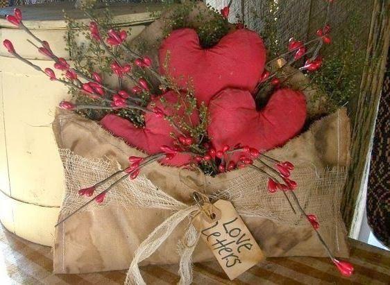 Corazones de tela para 14 febrero for Manualidades souvenirs navidenos