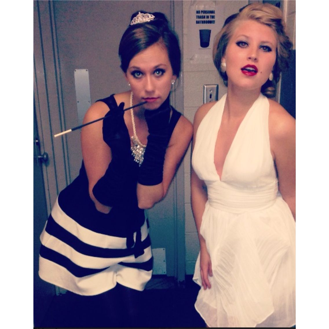 Marilyn Monroe and Audrey Hepburn Halloween costume ...
