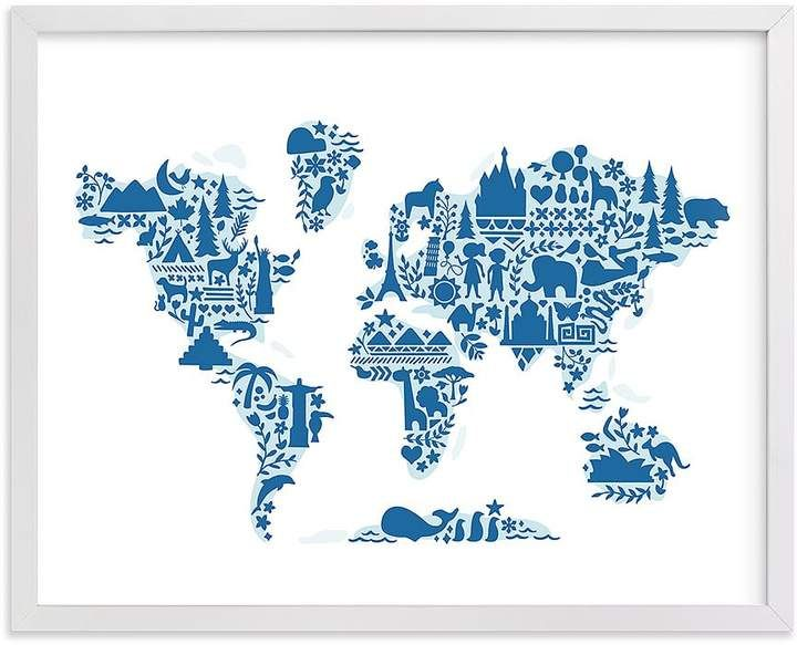 Minted 174 Little Big World Map Wall Art By Jessie Steury