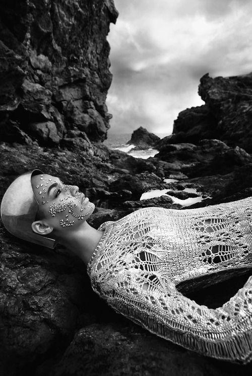 Shining' - model: Joan Smalls - photographer: Sølve Sundsbø - fashion editor: Anastasie Barbieri - hair: Duffy - make-up: Karim Rahman - Vogue Italia May 2014