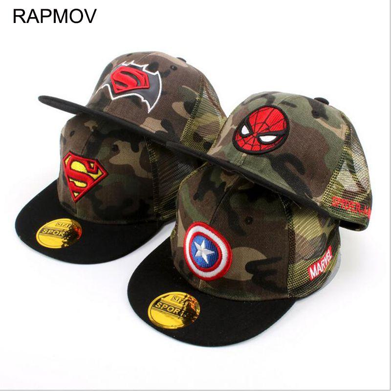63403374eec65 New Superman snapback caps kids hip-hop Baseball Cap hat children s 3-10  years