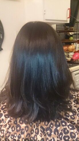 Deep brown layered ends