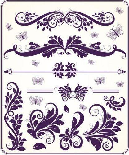 Free Design Patterns | Floral Design Elements Vector Set | Free ...