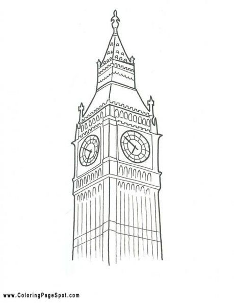 Big Ben London Coloring Pages big ben london Colouring