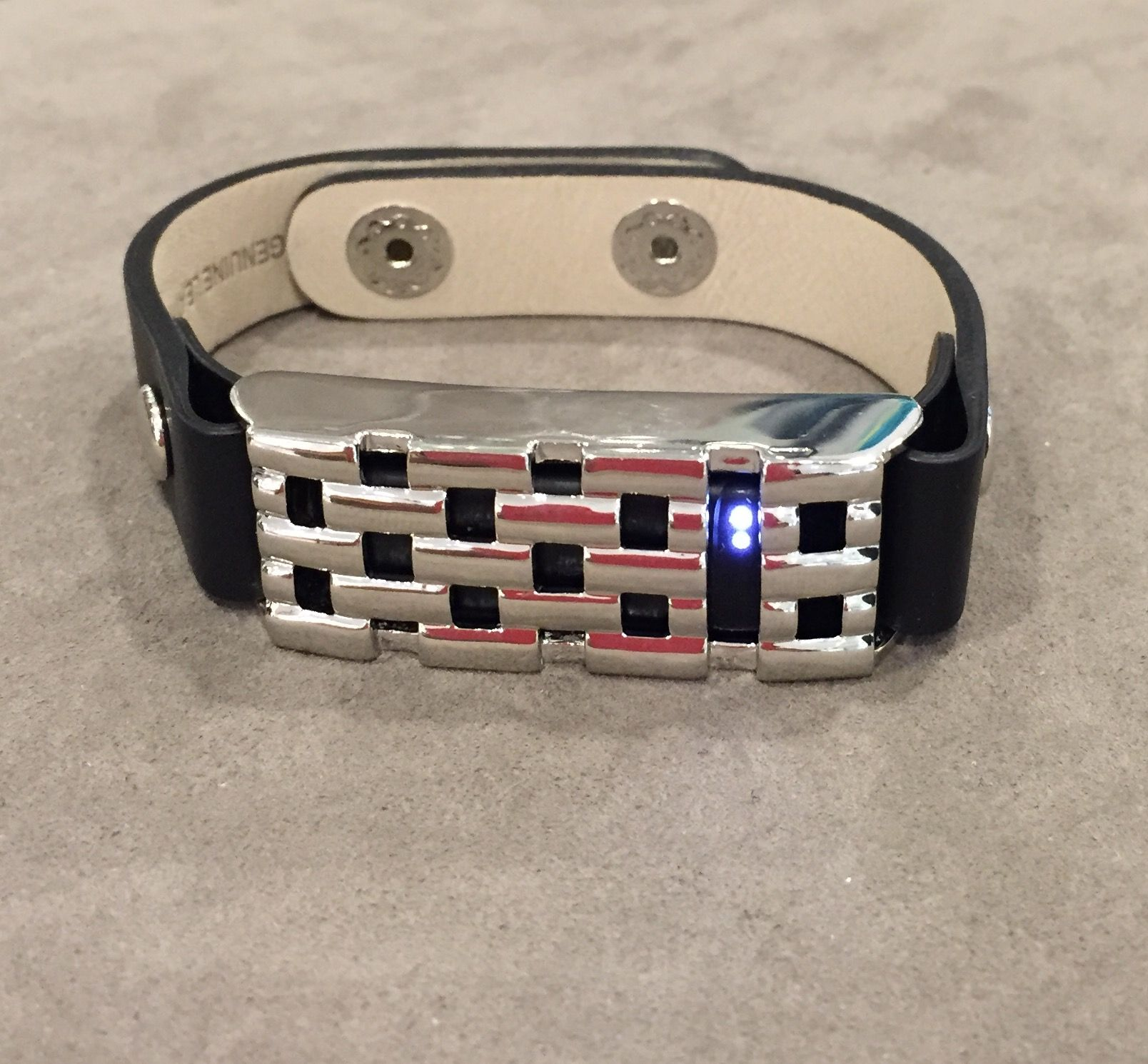 to cover your fitbit! NEW! Silver Basketweave Bracelet — Bezels and Bytes