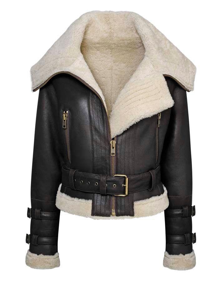 Aviator Jacket Women   Leather jackets, Black leather and Aviator ...