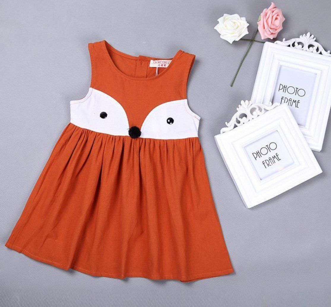1e649ecb8a43e Fox Autumn Girl Jumper | little girl clothes | Girls party dress ...