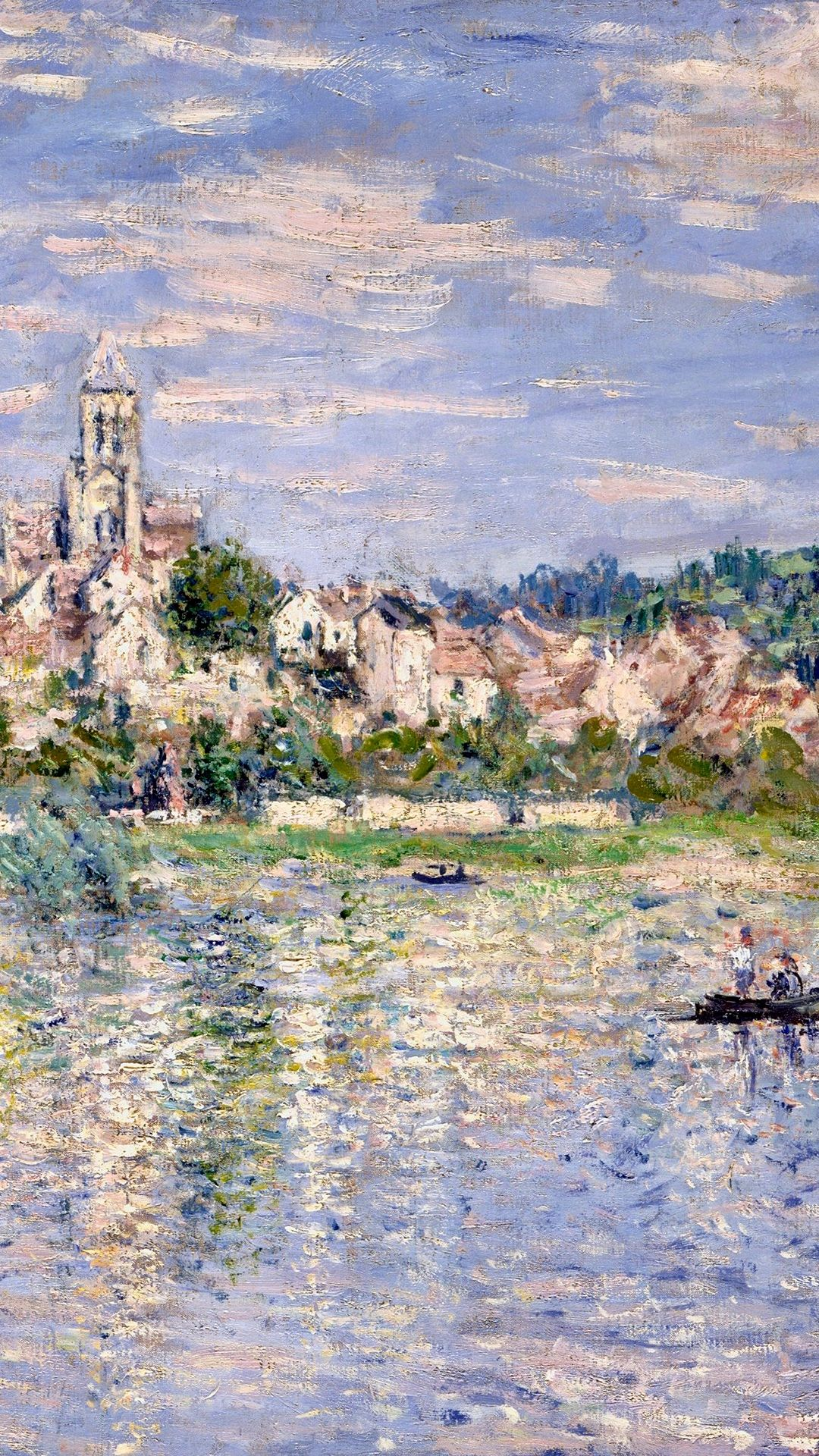 Claude Monet Vetheuil Detail In