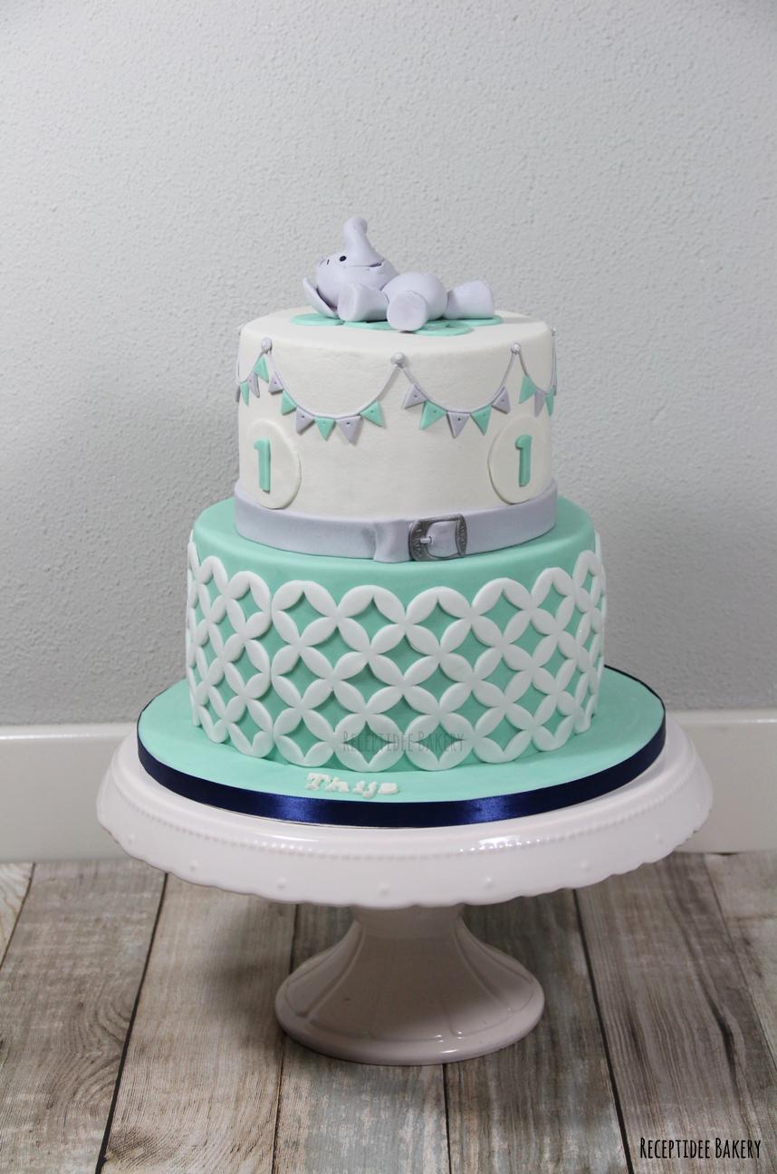 verjaardagstaart 1 jaar Verjaardagstaart van Thijs 1 jaar! / Birthday cake Thijs 1 year  verjaardagstaart 1 jaar